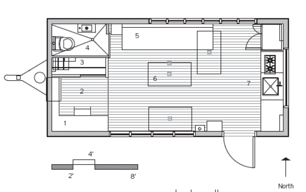 Minim micro house floorplan