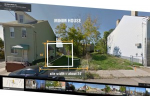 Minim House site in Pittsburg