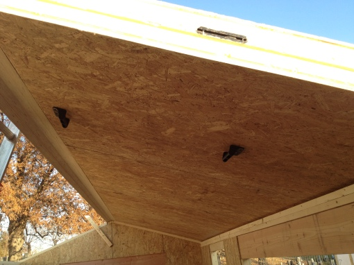 Installation of roof panels- handles are really useful