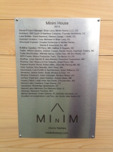 Minim House Plaque