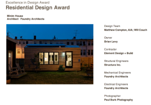 Minim House wins award